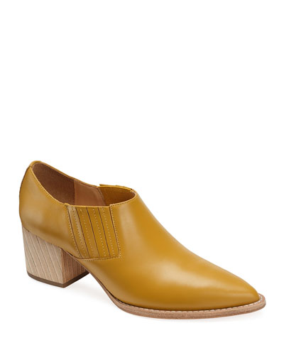 Tina Smooth Leather Ankle Booties