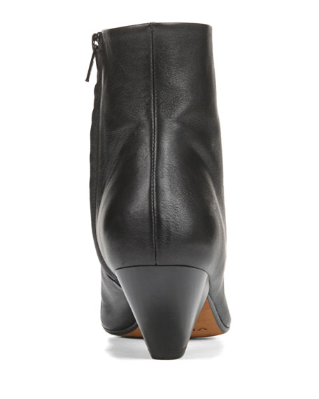 Vince Alder Leather Zip Booties