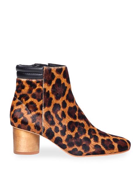 Bernardo Izabella Leopard Ankle Booties