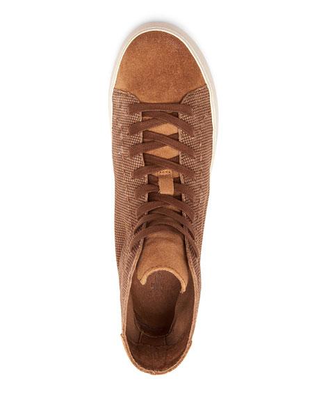 Frye Lena High-Top Suede Sneakers