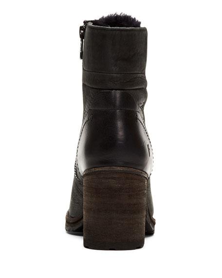 Frye Karen Fur-Trim Hiker Boots