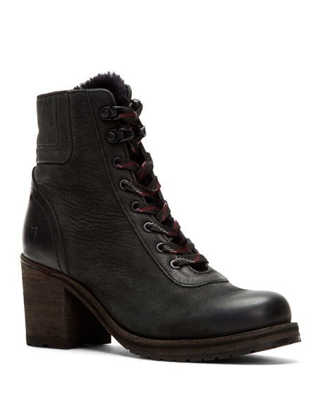 Frye Boots Karen Fur-Trim Hiker Boots