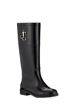Jimmy Choo Edit Flat Knee Rain Boots