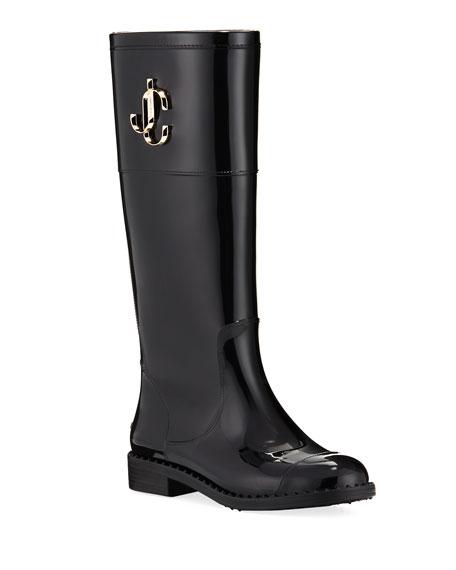 Jimmy Choo Edit Flat Knee Rain Boots