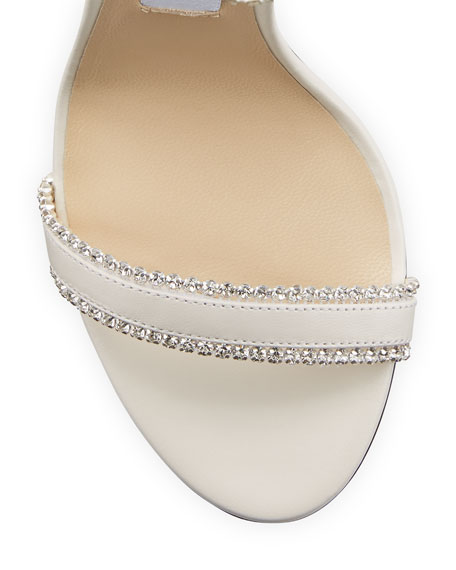 Jimmy Choo Dochas Jeweled Leather Sandals
