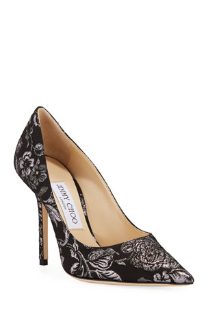 Jimmy Choo Love 100mm Floral Brocade Pumps