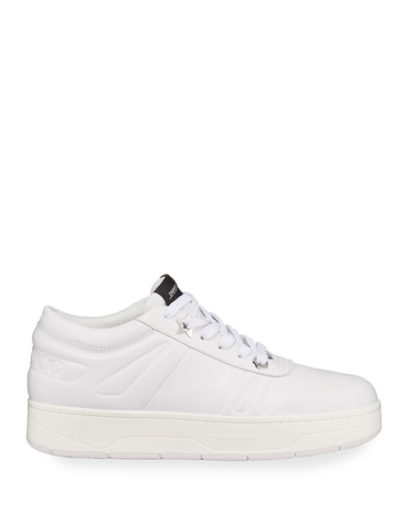 Image 2 of 5: Jimmy Choo Hawaii Leather Flatform Sneakers