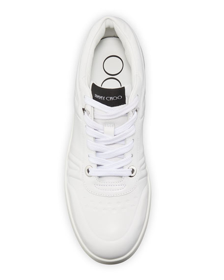 Image 3 of 5: Jimmy Choo Hawaii Leather Flatform Sneakers