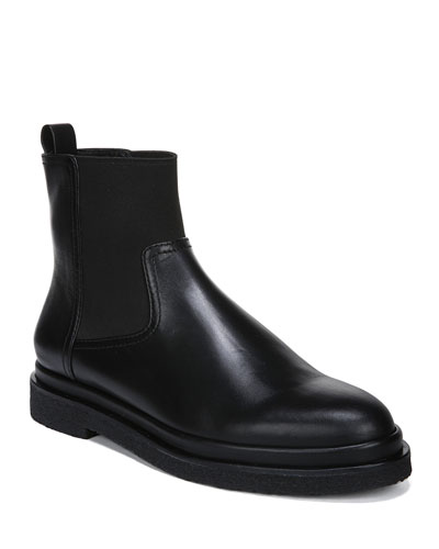 Litton Stretch Leather Booties