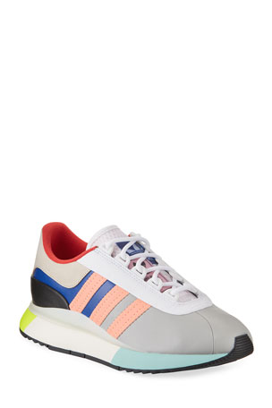 Adidas Colorblock Leather Fashion Sneakers