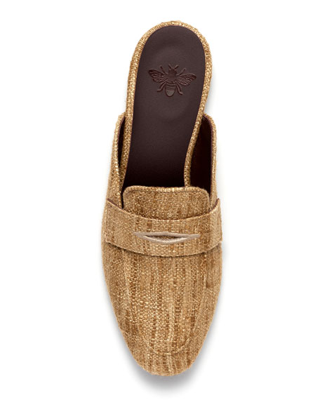Image 4 of 4: Bougeotte Penny Loafer Slip-On Mules