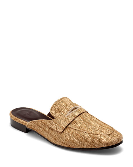 Image 1 of 4: Bougeotte Penny Loafer Slip-On Mules