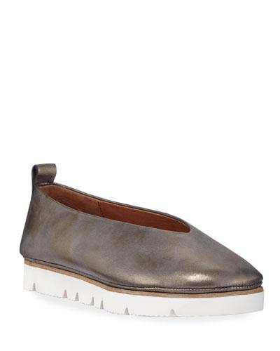 Demi Metallic Leather Comfort Slip-Ons