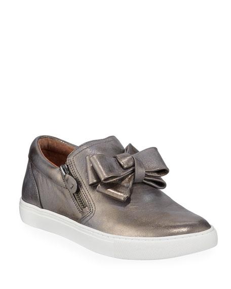 Gentle Souls Hale Ribbon Metallic Slip-On Sneakers