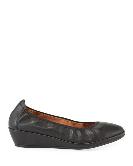 Gentle Souls Natalie Leather Comfort Wedge Ballet Flats