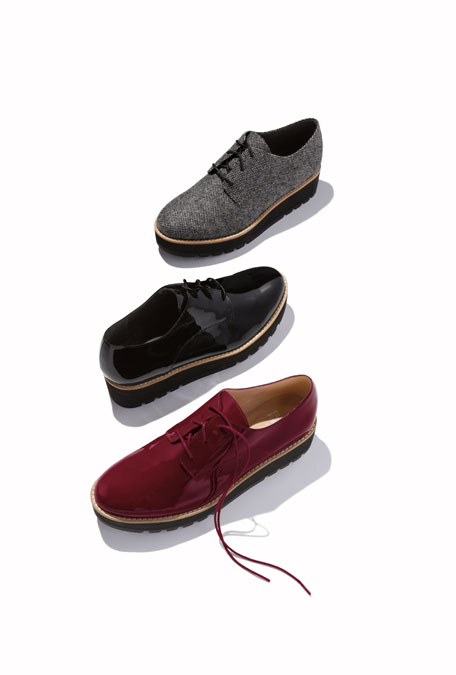 Eileen Fisher Eddy Easy Fabric Platform Oxford Shoes