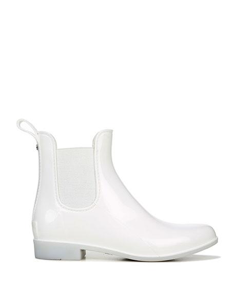 Sam Edelman Tinsley Gored Short Chelsea Rain Boots, White