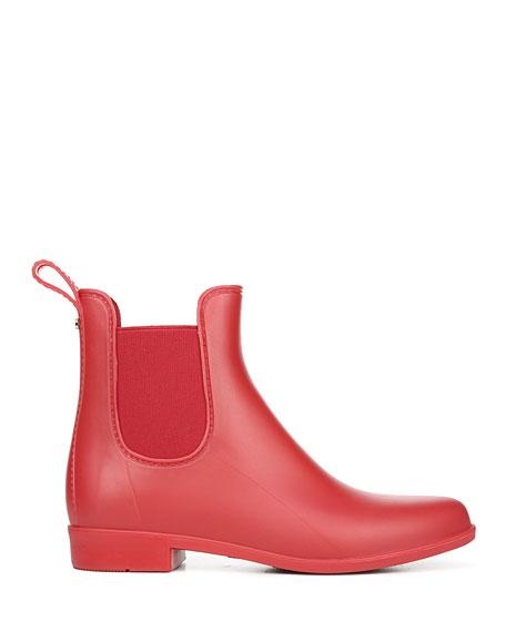 Sam Edelman Tinsley Gored Short Chelsea Rain Boots, Red