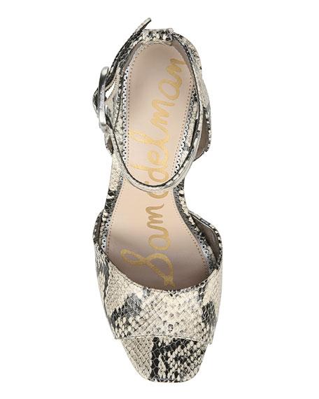 Sam Edelman Rain Snake-Print Platform Sandals
