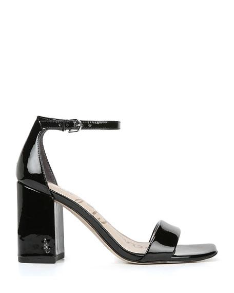 Sam Edelman Daniella Patent Leather Ankle Sandals