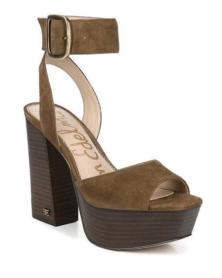 Sam Edelman Rain Suede Platform Sandals