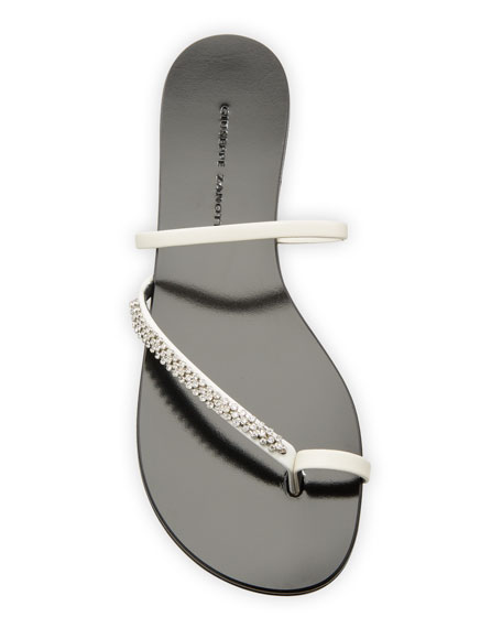 Giuseppe Zanotti Crystal-Embellished Flat Toe-Ring Sandals