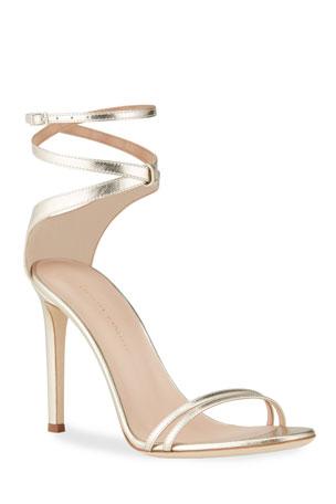 Giuseppe Zanotti Snake-Print Ankle Stiletto Sandals