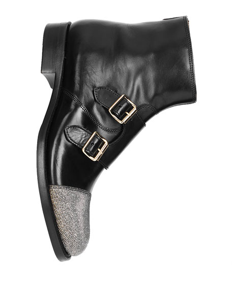 The Office of Angela Scott Mr. Dean Leather Monk Boots
