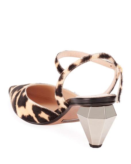 Marc Jacobs The Slingback Leopard Pumps