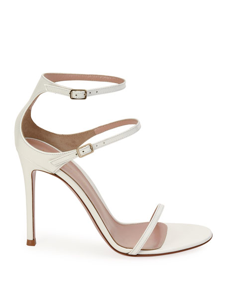 Image 2 of 4: Gianvito Rossi Triple-Strap High-Heel Sandals