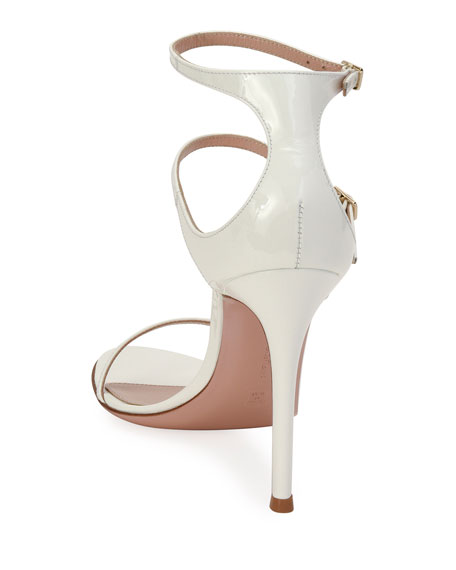 Image 3 of 4: Gianvito Rossi Triple-Strap High-Heel Sandals