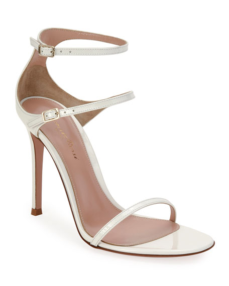 Image 1 of 4: Gianvito Rossi Triple-Strap High-Heel Sandals