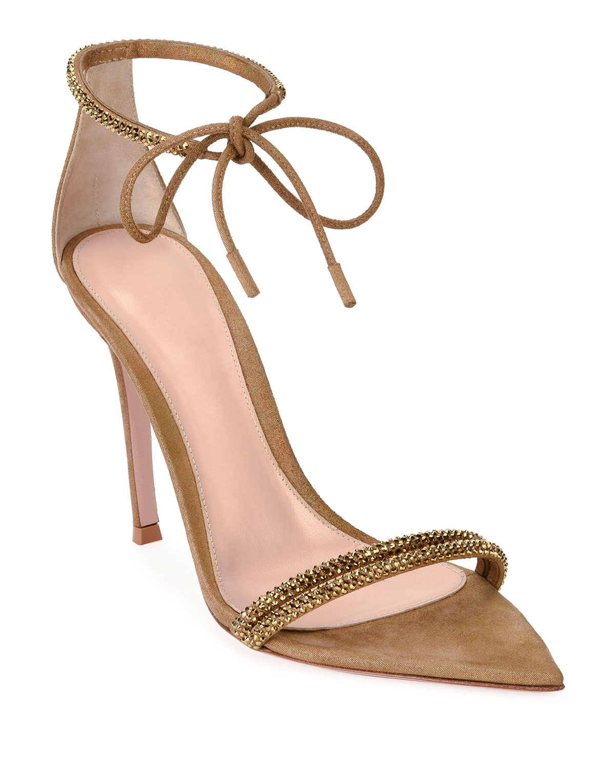 Gianvito Rossi Pointed Open-Toe Ankle