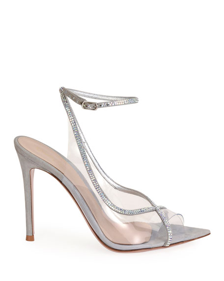 Image 2 of 4: Gianvito Rossi Open-Toe Strass Sandals