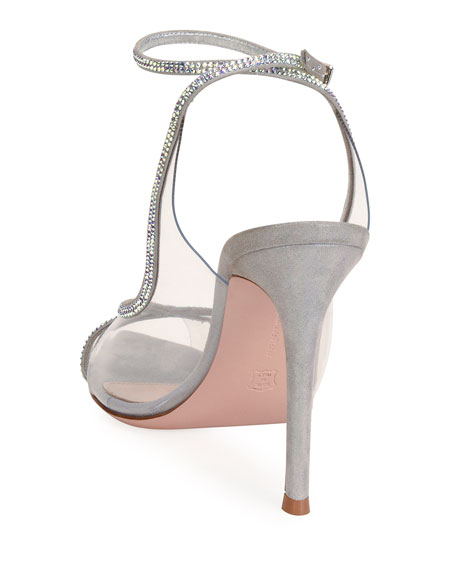 Image 3 of 4: Gianvito Rossi Open-Toe Strass Sandals
