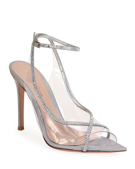 Image 1 of 4: Gianvito Rossi Open-Toe Strass Sandals