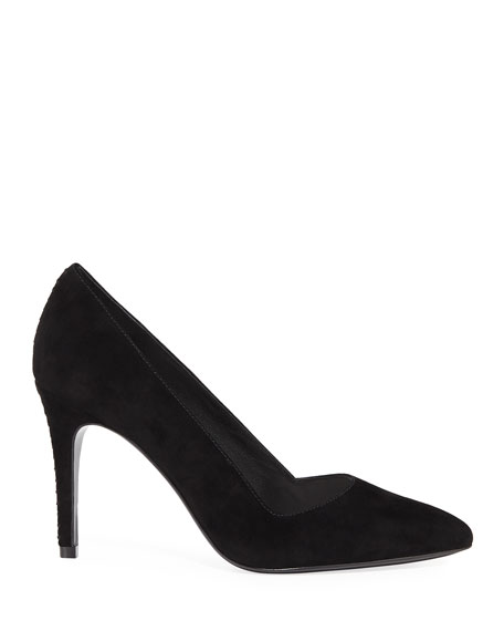 Image 2 of 4: Dina Suede Pointed Pumps