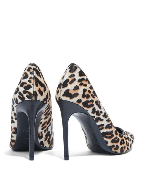 Alice + Olivia Creda Leopard Calf Hair Pumps