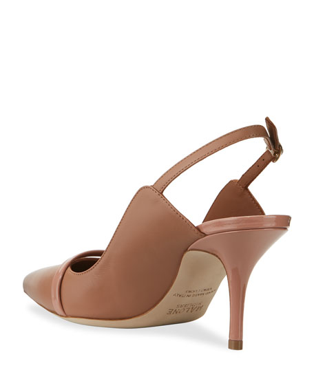 Malone Souliers Marion 70mm Napa Slingback Pumps