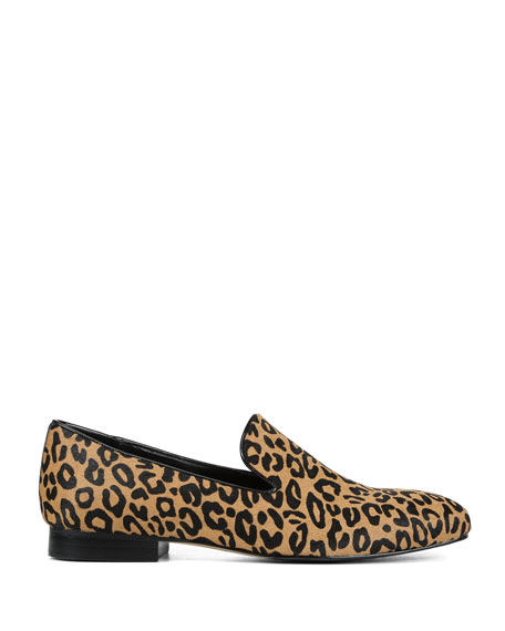 Donald J Pliner Luxx Leopard Calf Hair Loafers