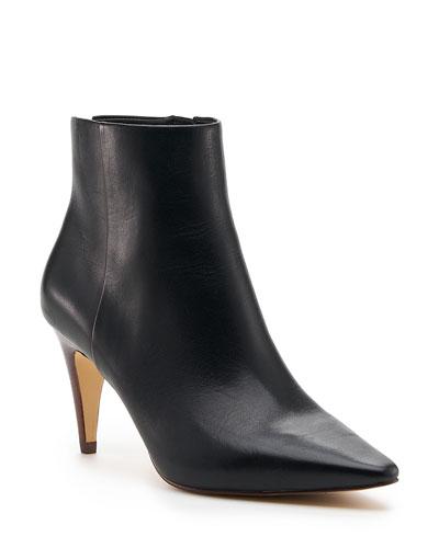 Teagan Leather Zip Booties