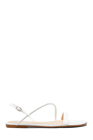Gianvito Rossi Asymmetric Leather Flat Sandals