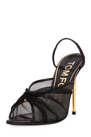 TOM FORD OT Mesh Slingback Pumps