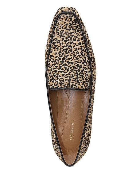 Via Spiga Aylee Leopard Calf Hair Loafers