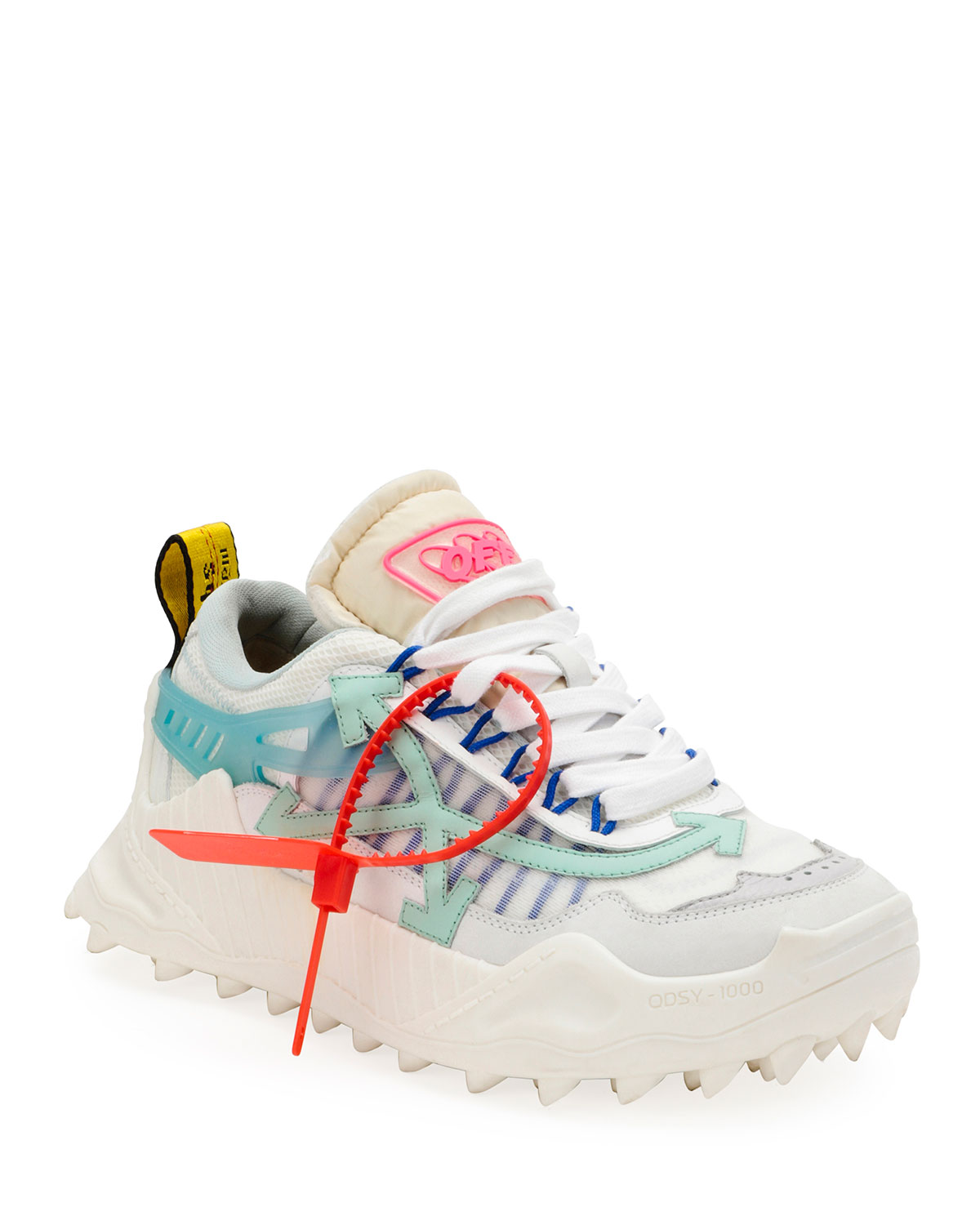Off-White Odsy Colorblock Mesh Sneakers