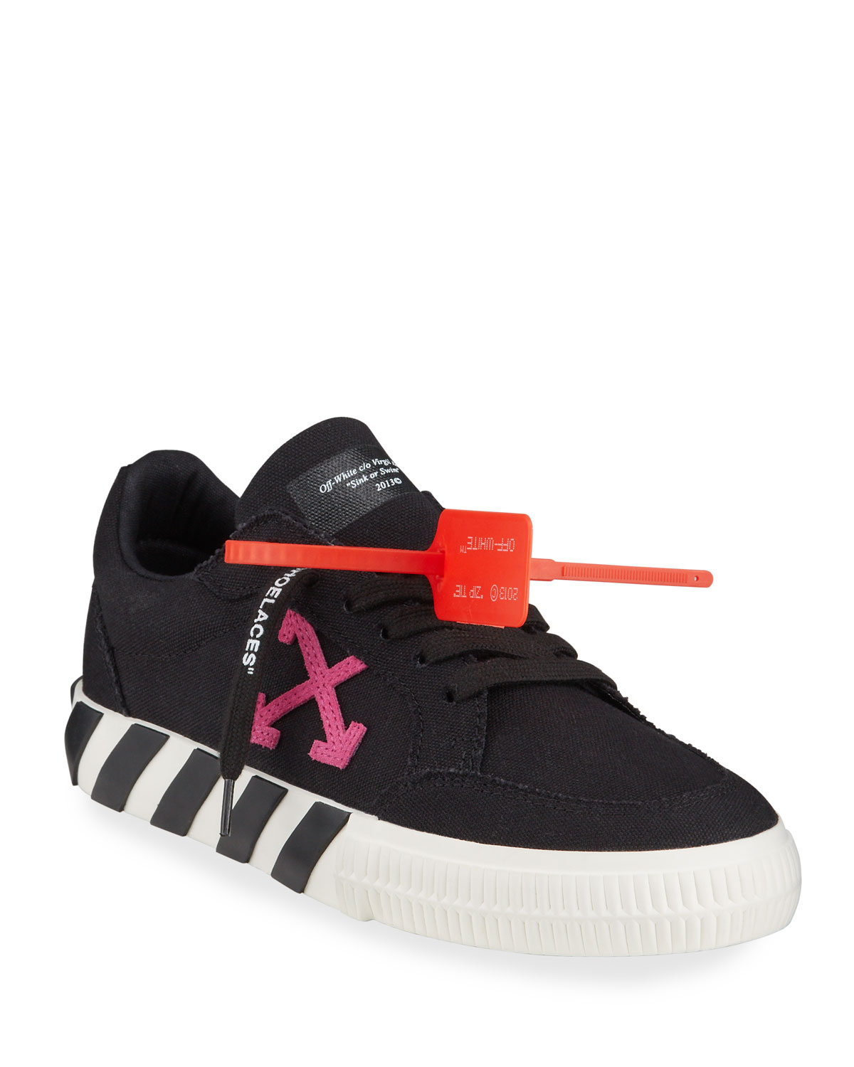 Off-White Canvas Arrow Low-Top