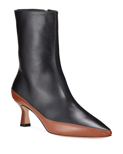 Bente Leather Ankle Boots