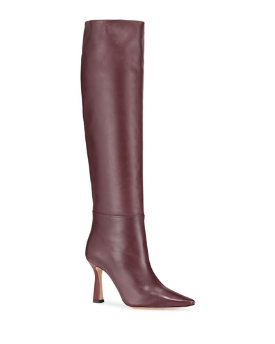 Lina Long Leather Knee Boots