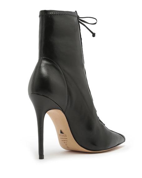 Schutz Tennie Point-Toe Lace-Up Boots