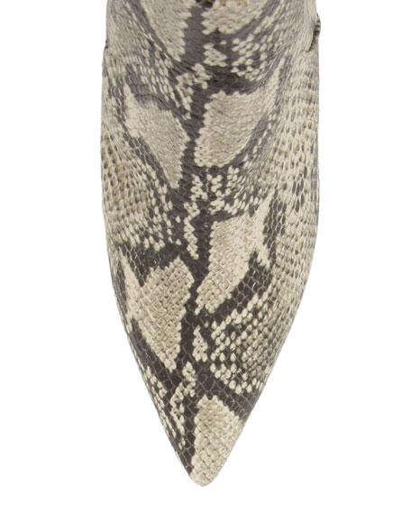Schutz Bette Snake-Print Ankle Boots
